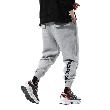 casual beam foot stretch pants men's cotton pants