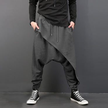 Men Deep Crotch Trousers Hip Hop Harem Men Pants