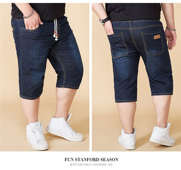 Casual Denim Classic Style Stretch Thin Section Shorts