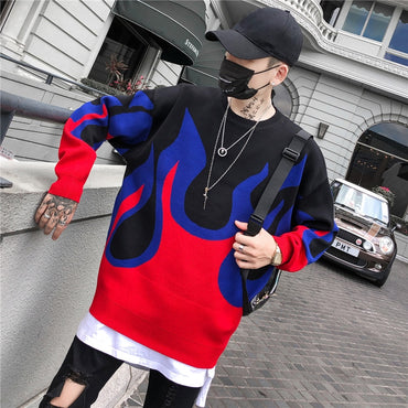 Winter Pullover Loose Style Men's Sweaters