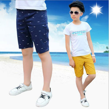 Boys casual pants  cotton knee length shorts