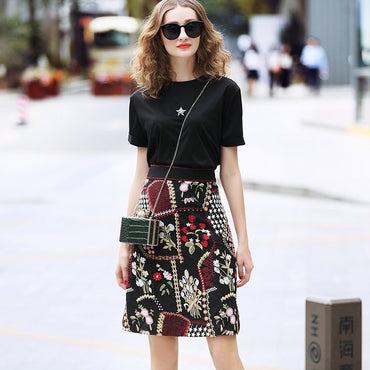 Floral Embroidery Skirts