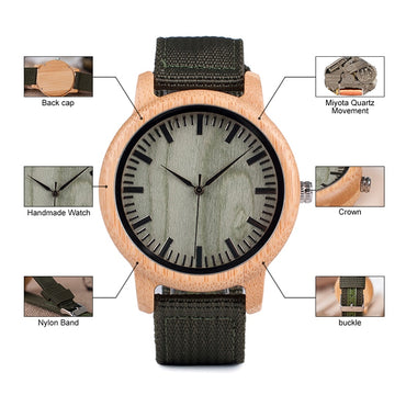 Bamboo Watches Luxury Top Brand Wood Watch