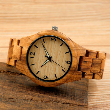 Wooden Case Wristwatch Male Design Causal Quartz Watch