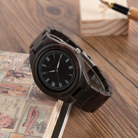 Wood Watch Ebony Zebra Wooden Watches