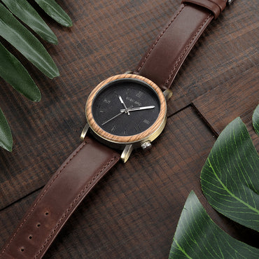 Wooden Metal Quartz Watches Special Design