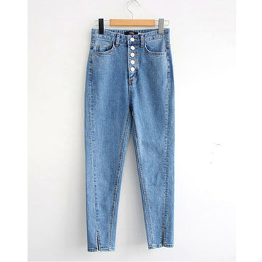 Vintage Single-breasted Denim Jeans