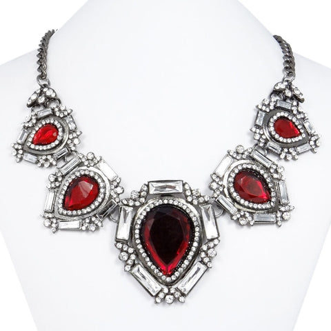 Retro Statement Choker Necklace