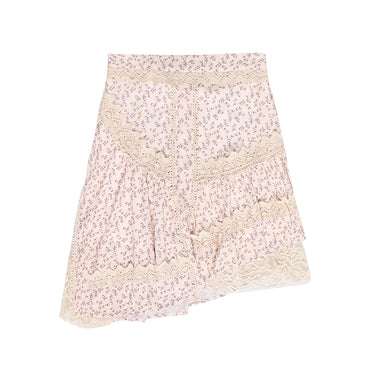 Print Lace Patchwork Skirt