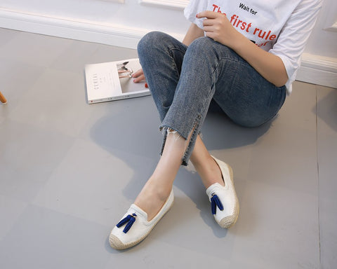 Korean version of Joker breathable fashion casual shoes espadrilles Non-slip flat shoes