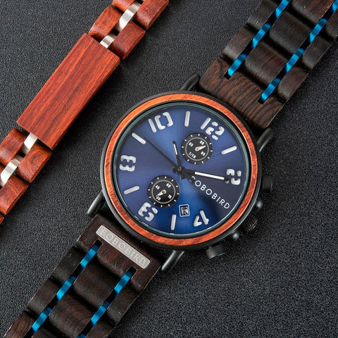 Wood Chronograph Wristwatches