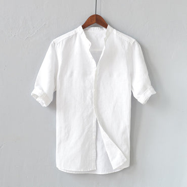 Button Down Slim Fit Shirt White Short Sleeve Shirts