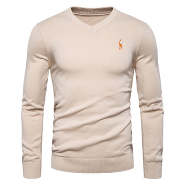 Brand Quality 100% Cotton  Sweaters V Neck Pullovers