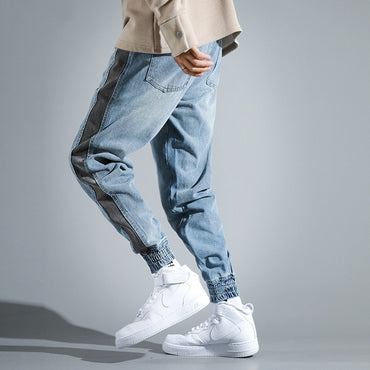 Loose Fit Side Stripe Designer Cargo Pants Harem Jeans