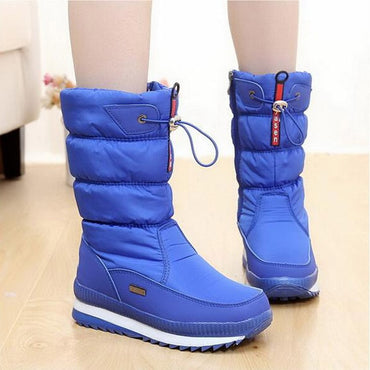 thick plush waterproof non-slip boots