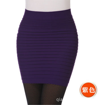 Black High Waist Tight Office Skirt