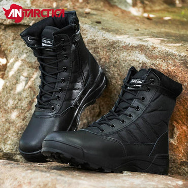 Zipper Lightweight Hiking Military Tactical Combat Layer leather Work Sport Boots
