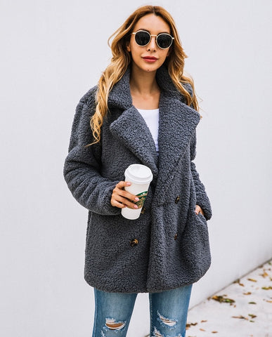 Long Sleeve  Thick Warm  Jacket & Coat