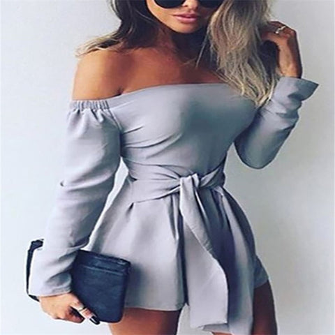 Off Shoulder Holiday Mini  Beach Slim Tank Top Playsuits Jumpsuits