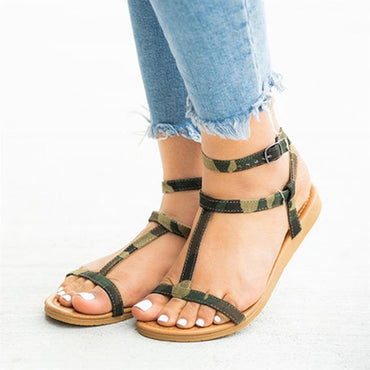 casual solid color PU sandals