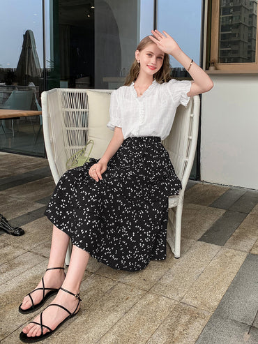 Half-body Irregular Wave Point Skirt