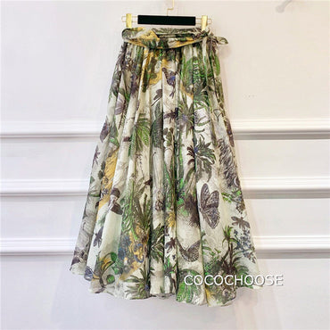 print cotton skirts