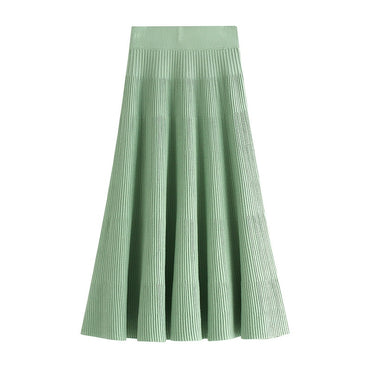 A-line Long Knitted Skirts