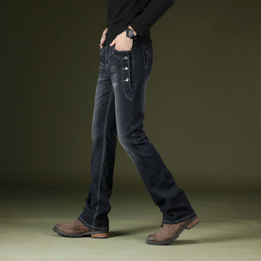Casual Boot Cut Denim Jeans