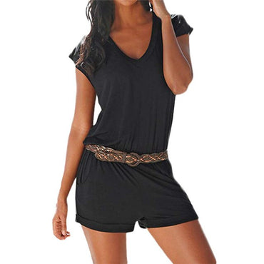 Casual Beach Jumpsuit Shorts Short Sleeve Sexy Elegant rompers