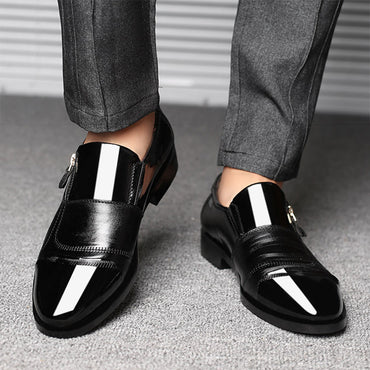 Elegant Formal  Wedding Shoes Men Slip On Office Oxford Shoes