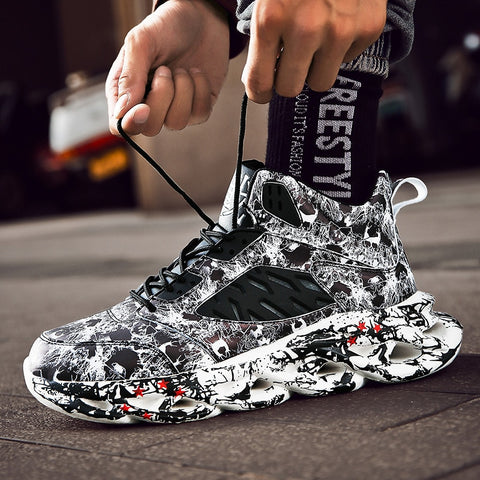Hip Hop Street Dance Shoes Graffiti High Top Chunky Shoes & Sneakers
