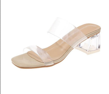 Clear Heels Slippers  Sandals