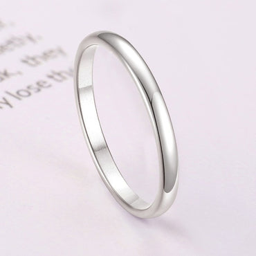 Solid Stainless Steel Minimalist Ring