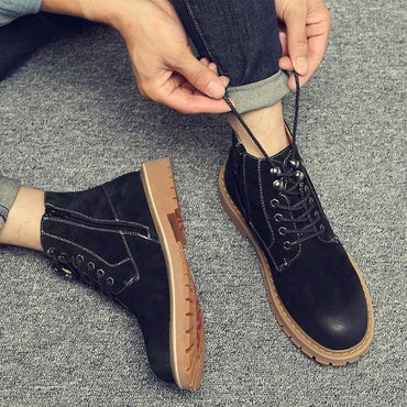 ankle  genuine leather boots