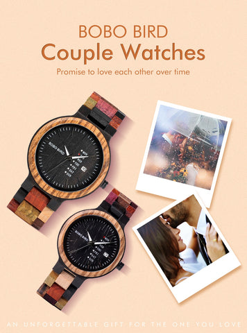 Wood Watch Designer Auto Date Colors Watches