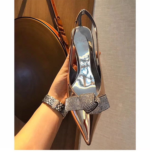 Rhinestones Butterfly Party Wedding Shoes Elegant  High heels