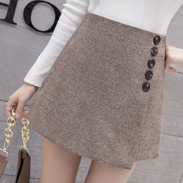 Korean Style Chic Single-breasted High Waist Shorts
