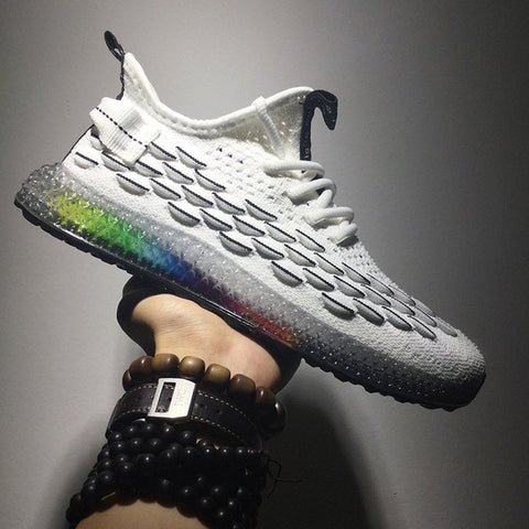 4D Print Flying Weaving Mesh Breathable Shoes & Sneakers