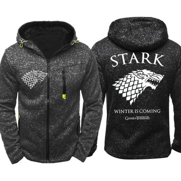 Zip Up Sweatshirts  Print Winter Is Coming Hoodie