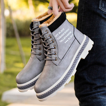Fleeces Cotton Shoes High Lace-up Boots