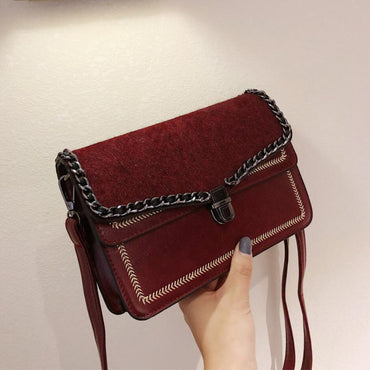 Vintage Square Cross-body  Handbag