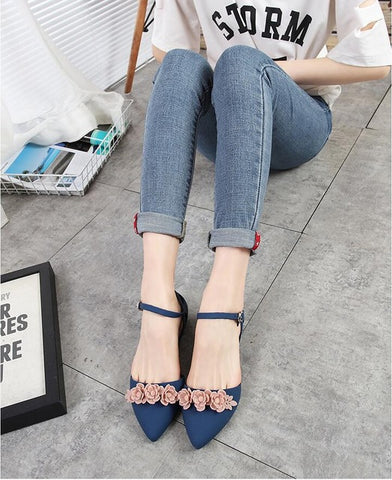 Beach Sand Soft  Slip Resistance Sandals Flat Heel Pointy Toe Flats Shoes