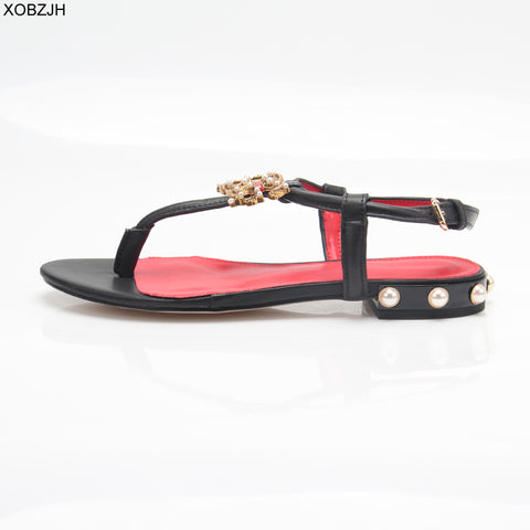 Black White Pink  Leather Lace Up  Sandals