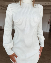 Sexy mini sweater dress