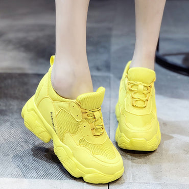 Chunky Yellow Height Increasing Platform shoes & sneakers