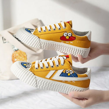 Yellow Cartoon Animation Vulcanized shoes & sneakers