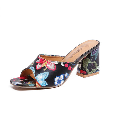 Prints Party Wedding Shoes Comfort Quality PU Leather Sandals