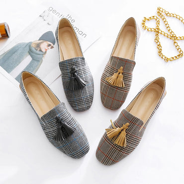 Square Toe  Platform Flat shoes