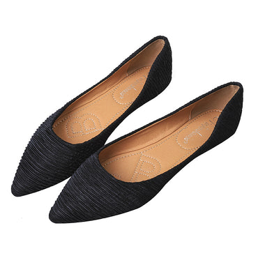 Loafers Slip On Pointed Toe Flat Shoes