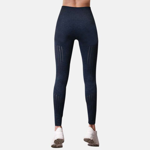 Breathable sweat-absorbing Fitness Black Ankle-Length Soft Mesh Legging